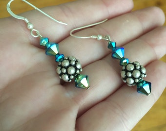 Blue Swarovski Crystal Earrings JJ2005