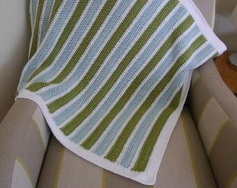 Baby crochet blanket, stripes