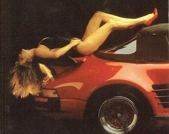 Laid Back 5x7 Pin Up Girl Postcard 1987 Porsche