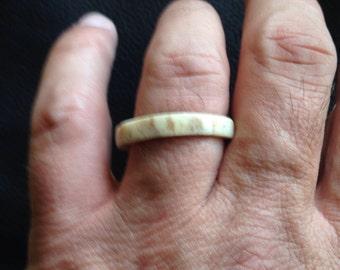Elk Antler Ring
