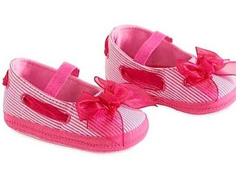 Baby Girls Fuchsia Stripe Maryjane Shoes
