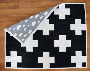 Plus Quilt with Modern Backing