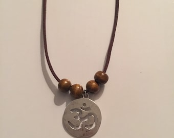 Ohm Silver Charm Necklace