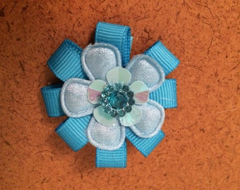 Blue Flower Barrette