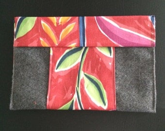 Grey Flannel/Hot Pink Cosmetic Bag