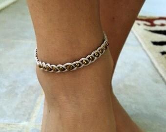 Copper Hemp Anklet