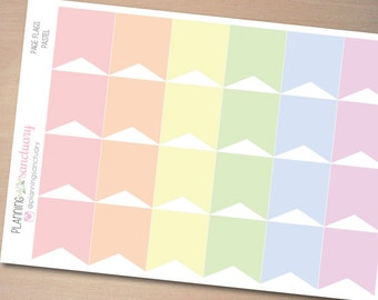 Page Flags Pastel || Reminder Planner Stickers Perfect for Erin Condren, Kikki K, Filofax and all other Planners