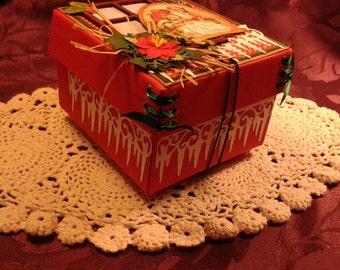 Handmade Boxed Mini Album - Scrapbook Album, Photo Album