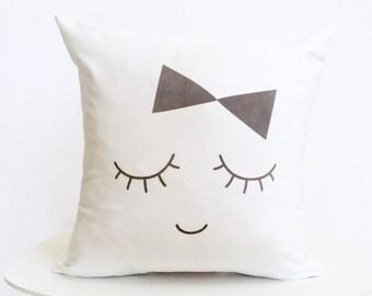 Nursery Pillow   Nursery Decor   Lady Pillow   Face Pillow   Girl Nursery