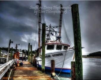 Hurricane Shrimper, Shrimp Boat, Shrimping, Dark Skies, Southern, South Carolina
