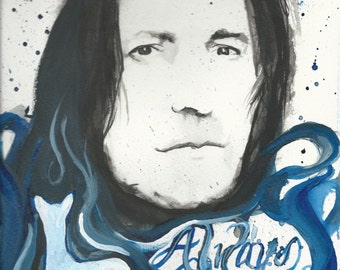 Severus Snape Abstract Watercolor