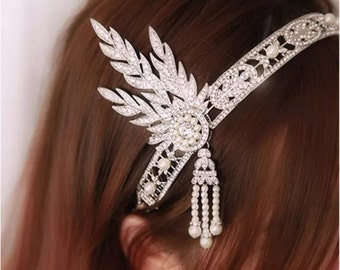 Vintage 1920's Great Gatsby Bridal Wedding Headband Tiara New