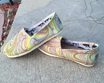 Painted Canvas Shoes *Womens Size 5*