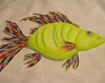 Green 3D Tropical Fish
