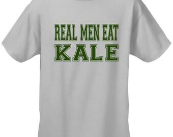 Real Men Eat Kale Men's T-shirt - #1610