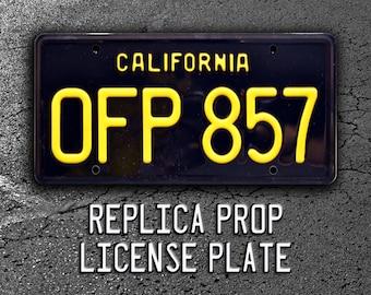 Herbie The Love Bug / 1963 VW Beetle / OFP 857 *Metal Stamped* Replica Prop License Plate