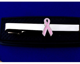 Breast Cancer Awareness Tie Bar~Handmade in the USA~FAST Shipping from the USA~Free Domestic Shipping!!!