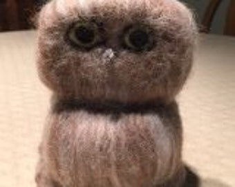 Owl-Needle Felted
