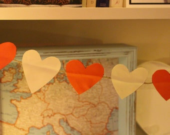 Red and White Heart Bunting