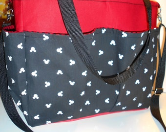 Large Mickey Mouse Diaper Bag Baby Tote Disney