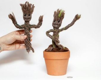 Baby Groot Needle Felt inspired by Guardians of the Galaxy