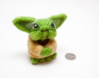 Yoda Needle Felt Star Wars Inspired
