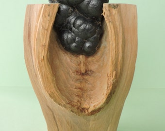 Wood art with mineral