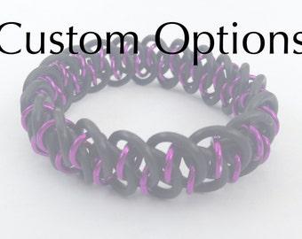 Custom Shenanigans Bracelet // chain maille jewellery // stretchy bracelet // jewellery bracelet