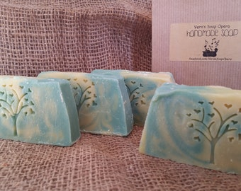 Natural Handmade Olive Oil Soap Unique Cold Process Facial Body Soap Greek