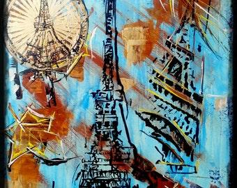 "Paintingoncanvasbymilly.Original piece. ""Paris"""