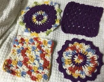 Set of 4-Cotton Dishcloths (various)