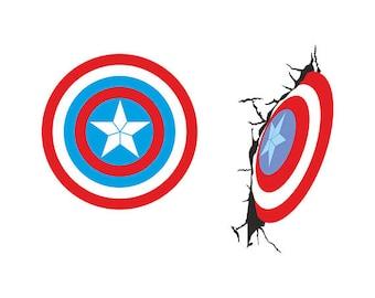 Captain america Svg - captain america logo clipart svg silhouette pack svg, eps, dxf