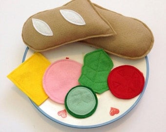 Felt Play Food, Felt Baguette, Play Food Set, Pretend Play