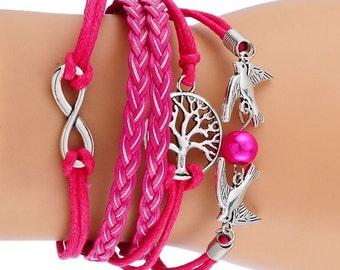 Bracelet Triple zen pink