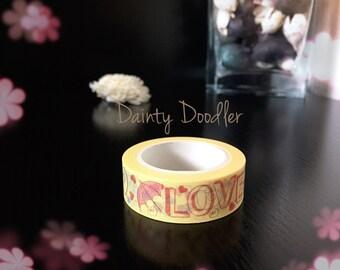 Love umbrella washi tape / Adhesive / Planner Supplies / Diary / Scrapbook / Photo album / Craft