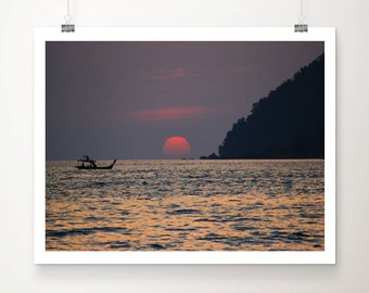 """Red Sunset 16""""x20"""" (available with or without frame)"""
