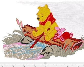 pooh piglet disney  machine Embroidery Design ,  Instant Download  , xxx   pcs  pes  jef  hus  exp  dst sew
