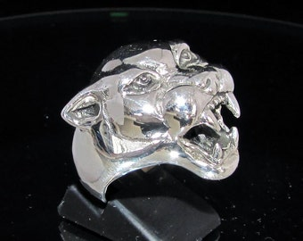 Sterling silver animal ring Panther - Panthera