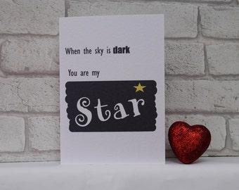 Handmade Thank You Card, Best Friend Card, Valentine's Card, Blank Card, Wife Card, Girlfriend Card, Boyfriend Card, Husband card, Partner