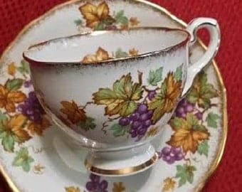 Oregon Grapes Royal Stafford China Tea Cup