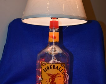 Fireball Bottle Lamp