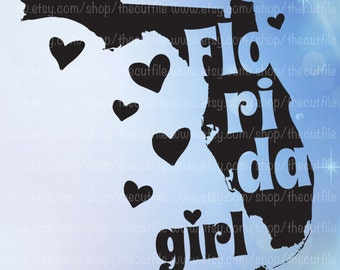 Florida Girl svg, Florida state svg scalable vector for cricut/silhouette. Southern svg, htv tshirt file.