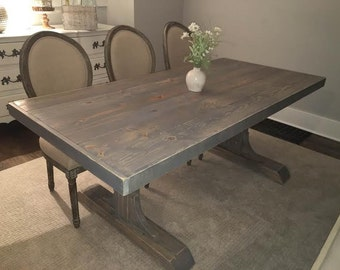 Items similar to blue yellow vintage farmhouse table on etsy for Yellow farmhouse table
