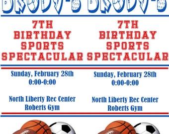 Custom Sports Ticket Birthday Invitation