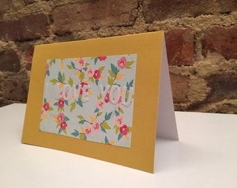Valentine's Day // I Love You Floral Card