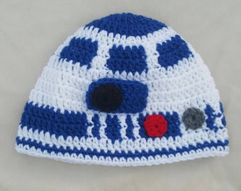 R2D2 Crocheted Hat