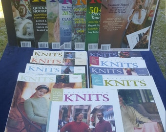 lot of 16 Interweave Knits knitting magazines 1997 to 2003