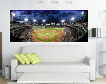 "Boston Red Sox - Fenway Park Panoramic Canvas Print - 48"" x 22"" Amazing View"