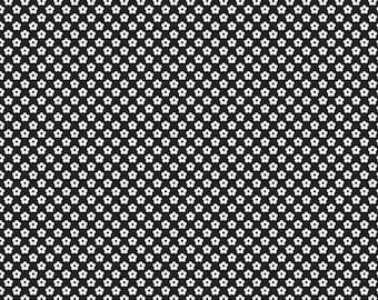 Fabric by the yard - Riley Blake Designs - C6175 - Dot & Dash - Black/White