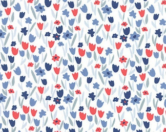 Moda Fabric  - Aria by Kate Spain - Stock #27236 - A Garden of Butterflies Fluttering By - Cotton fabric by the yard